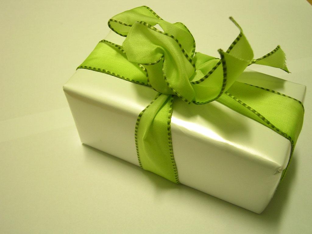 Green Christmas Gift - Christmas Wallpaper
